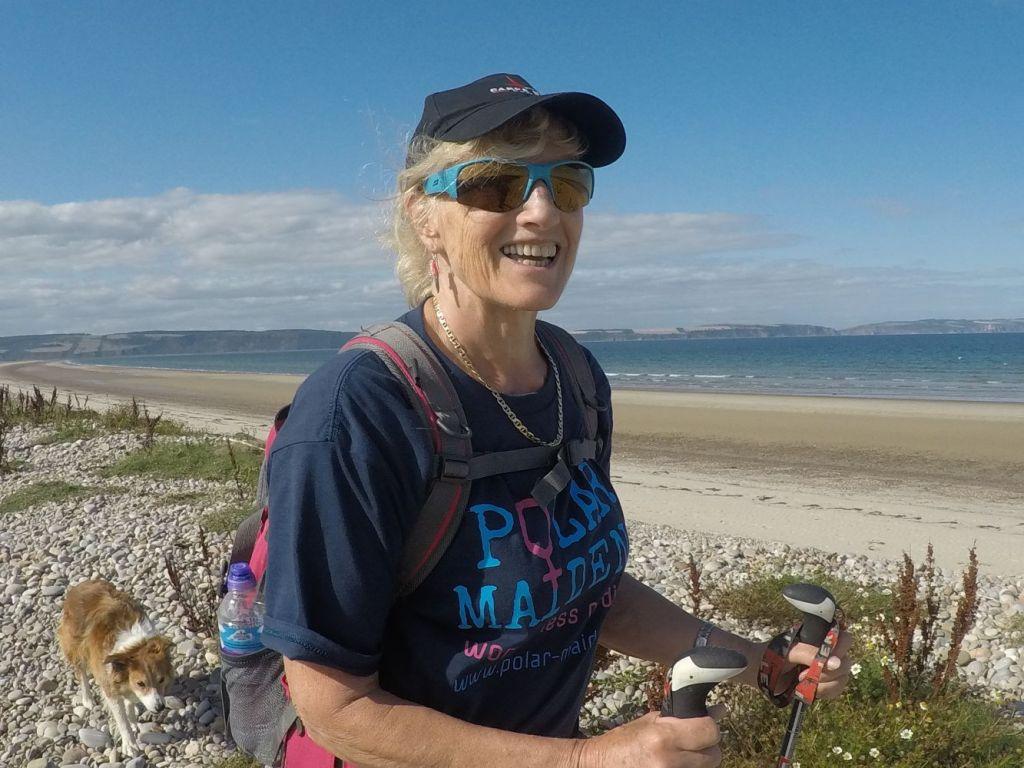 Polar Maidens - Jan Meek training in Nairn, Scotland