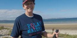 Polar Maidens - Aileen training in Nairn, Scotland