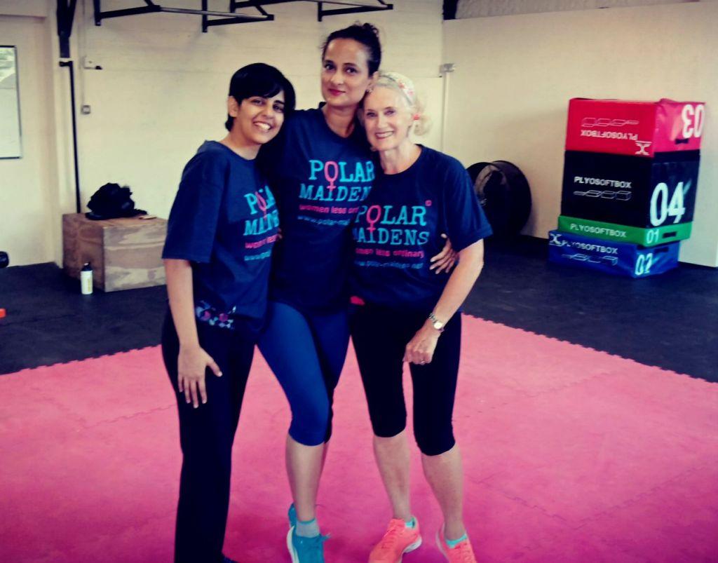 Polar Maidens - Tanvi, Madhabilata and Jan training in Bexhill