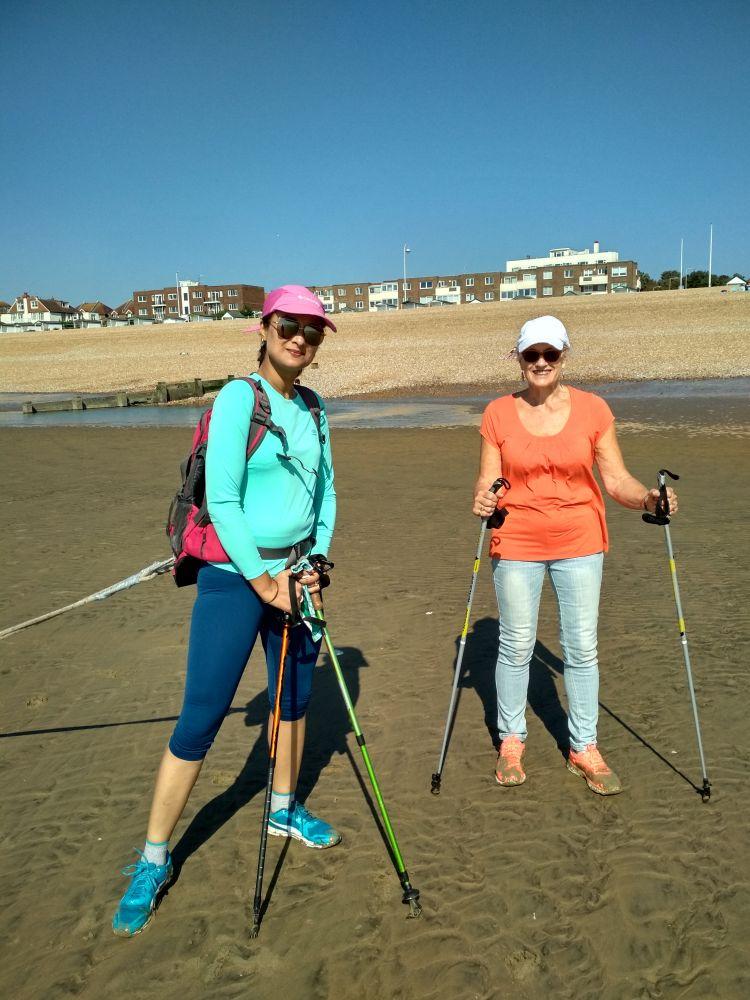 Polar Maidens - Madhabilata and Jan Meek training in Bexhill