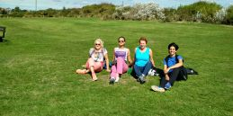 Polar Maidens - Jan, Madhabilata, Aileen and Tanvi in Bexhill together