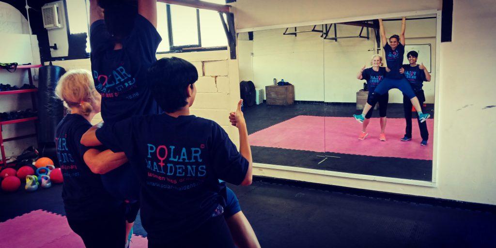 Polar Maidens - Jan, Madhabilata and Tanvi training in Bexhill