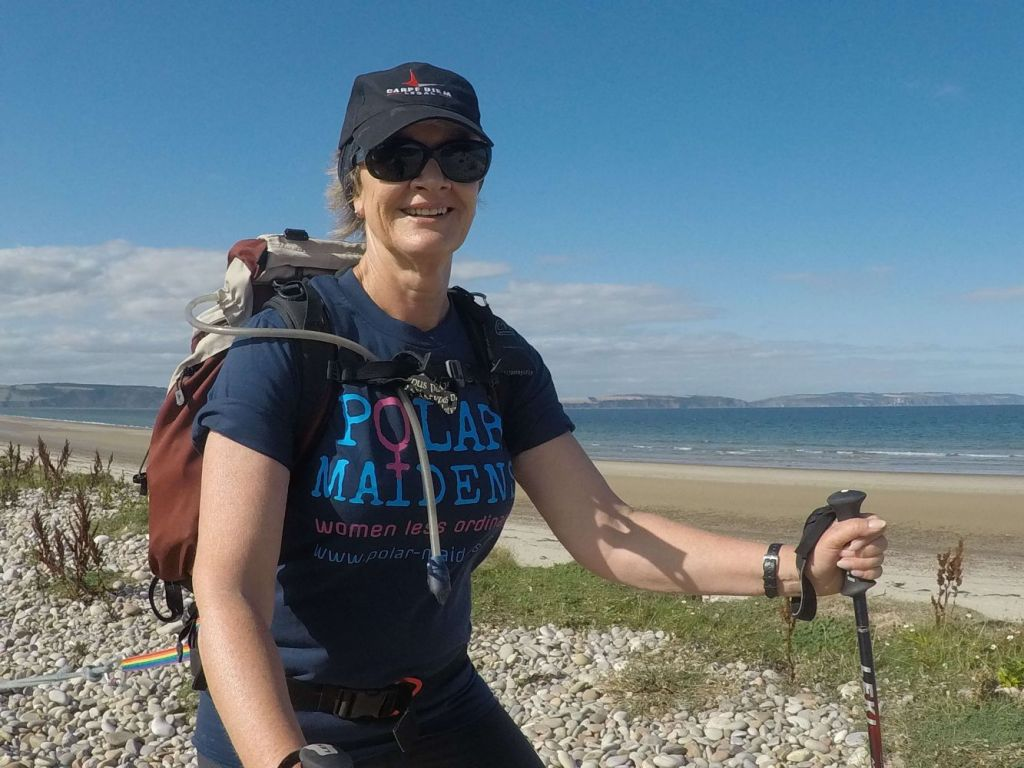 Polar Maidens - Caroline Geraerts training in Nairn, Scotland