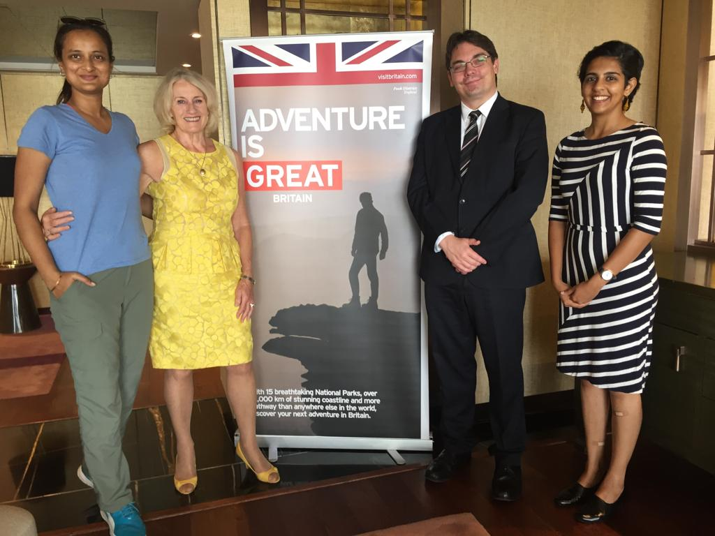 Polar Maidens - In Mumbai with Paul Carter, Deputy Head of Mission, at the British Deputy High Commission